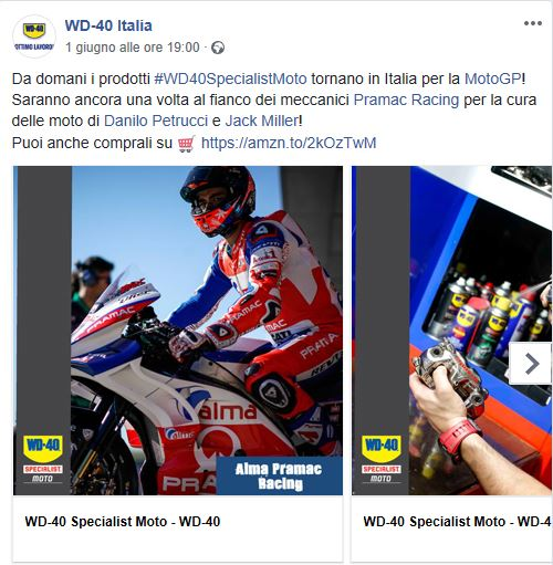 WD-40 OFG Advertising Alma Pramac Racing Team