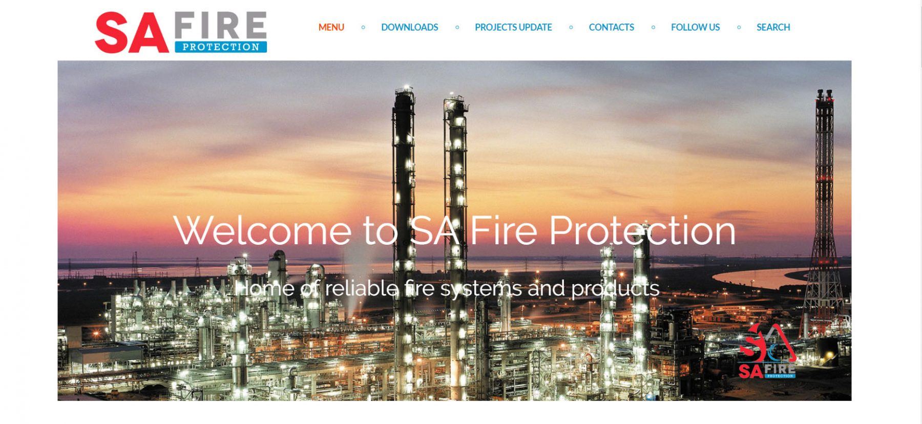SA Fire Protection, restyle del nuovo sito web curato da OFG Advertising